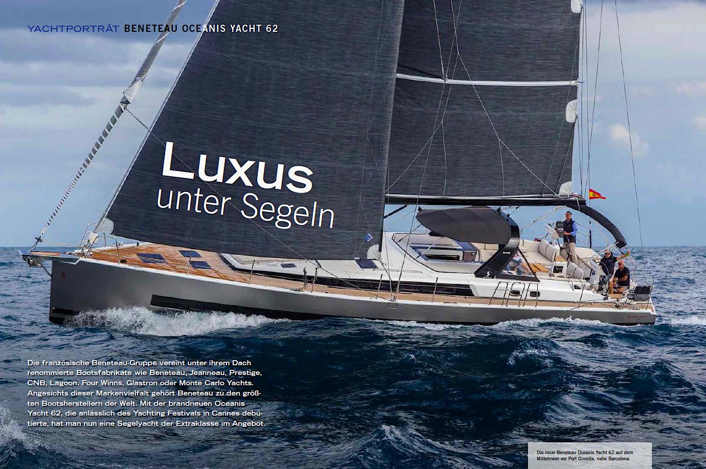 Luxus segelyachten  Beneteau Oceanis Yacht 62 - Der Yachtfotograf